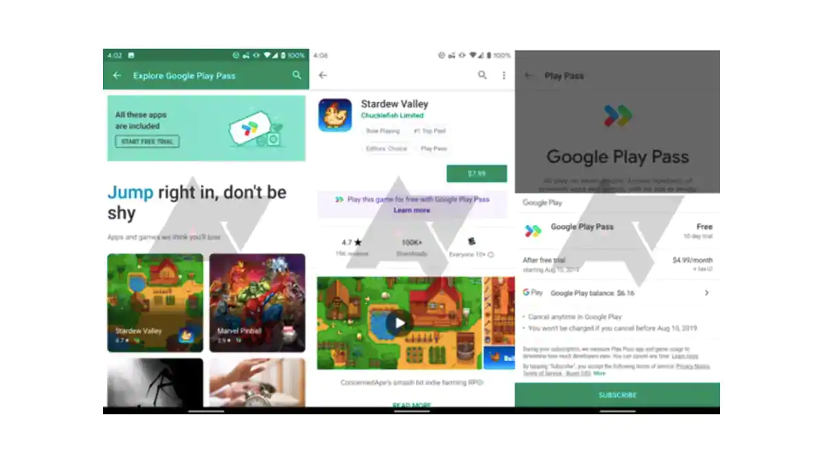 Google's Play Pass App